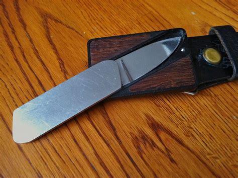 gerber belt knife classic knife review gerber touch 233 belt buckle knife