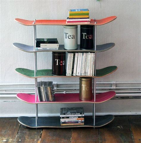 recycled skateboard shelf