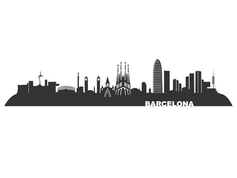 wandtattoo barcelona skyline barcelona wandtattoo bei