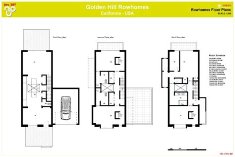 urban floor plans urban row house plans