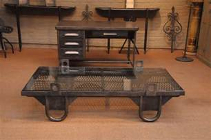 industrie tisch vintage industrial grate coffee table with loop