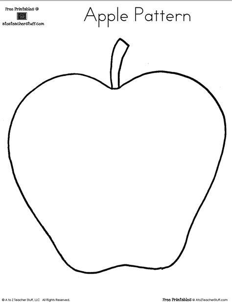 Blank Apple Writing Page Or Shape Book Free Printable Teaching Free Printables Pinterest Apple Pages Card Template