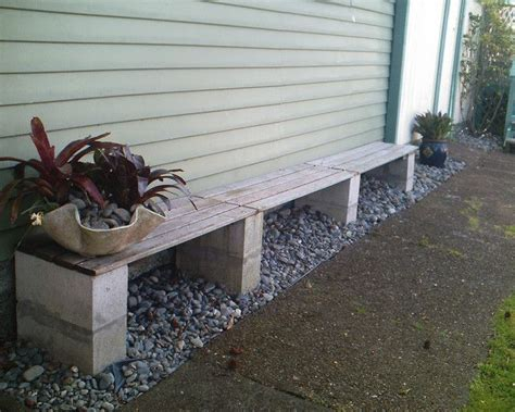 concrete block bench cinder block bench backyard ideas pinterest gardens