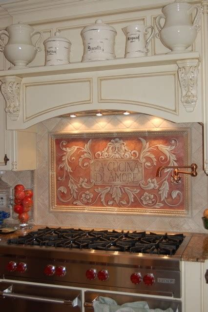 painted kitchen backsplash hand painted kitchen backsplash mediterranean kitchen