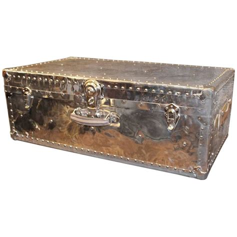 1940 S Polished Aluminum Steamer Trunk At 1stdibs Aluminum Trunk Coffee Table