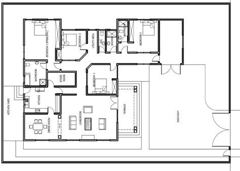 the floor plan of a new building is shown elegant ground floor plan for home new home plans design
