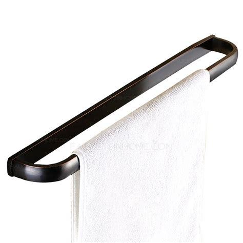 Unique brass oil rubbed bronze single black towel bars