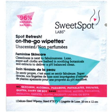 Sweetspot Labs Instant Sweetification To Go by Sweetspot Labs On The Go Wipettes Unscented Travel