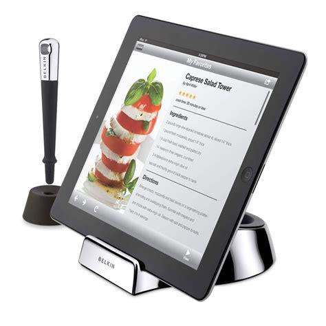 tablette cuisine cook belkin chef stand accessoires tablette belkin sur ldlc
