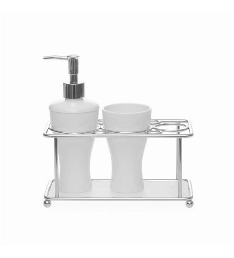 bathroom tray set home white tray bathroom set by home online bathroom