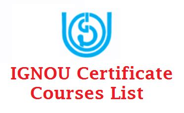 Ignou Mba Syllabus 2017 by Ignou Certificate Courses 2017 After 10th 12th Diploma
