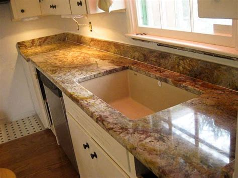 Cheap Kitchen Countertop Ideas by Typhoon Bordeaux Rustic Granite Kitchen