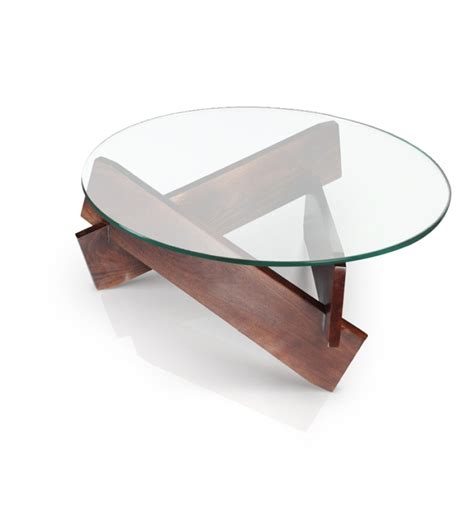 glass coffee table by mudramark