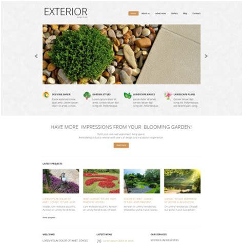 landscape design website landscape design templates templatemonster