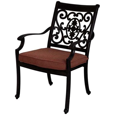 Cast Aluminum Patio Chairs Patio Furniture Chair Dining Cast Aluminum Set 2 St