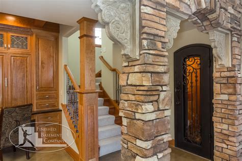 basement or cellar basement stairs wine cellar entry traditional