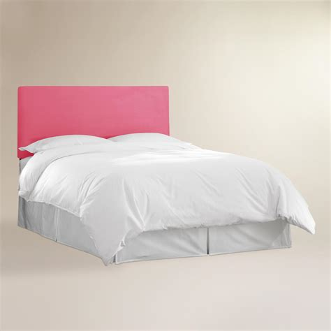 pink velvet parke full queen headboard world market