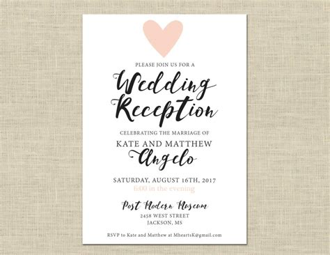 Casual Wedding Invitation Template by Casual Wedding Invitation Wording Wedding Invitation
