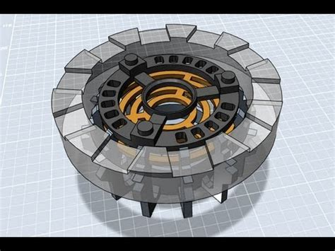 autodesk  design tutorial iron man arc reactor