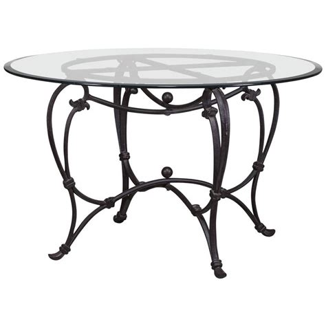 classic iron dining table base circa 1900 for sale