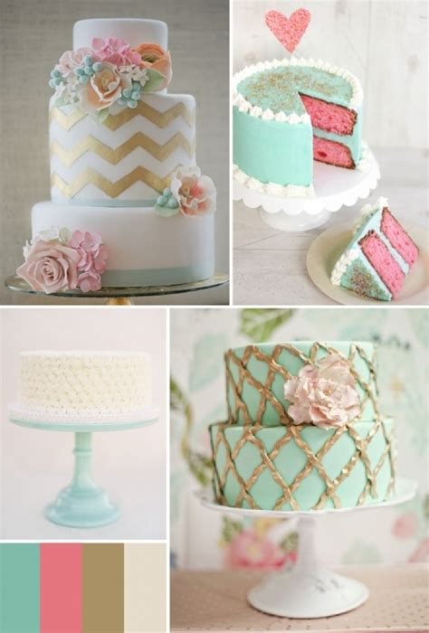 Turquoise And Pink Wedding Decorations by Turquoise Pink Gold Cake Inspiration Mint And