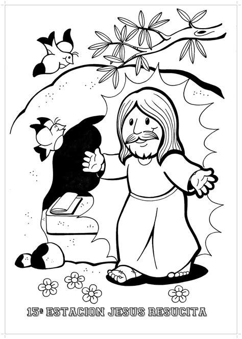 imagenes de jesus resucitado para colorear clase de religi 211 n