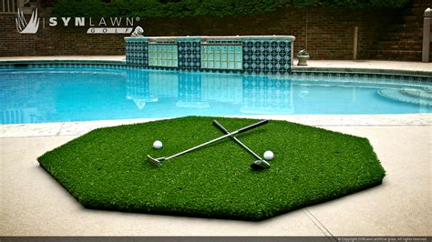 golf swing mat chipping and driving mats synlawn golf