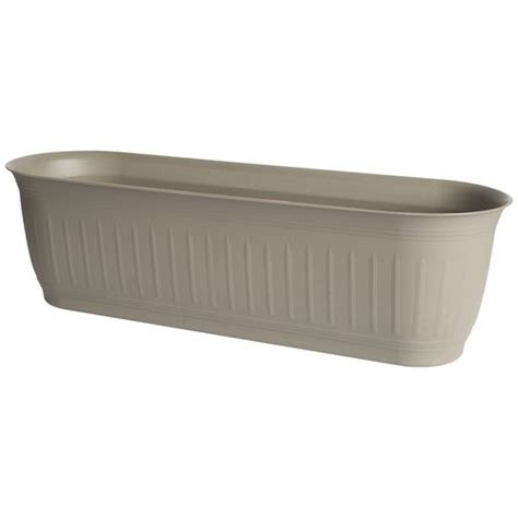 walmart planter box 24 quot colonnade window box planter cement walmart