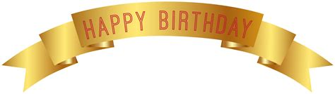 Happy birthday gold banner png clip art gallery yopriceville high quality images and