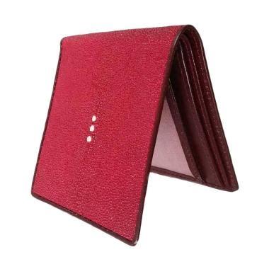 Dompet Wanita Keren Warna Merah Catenzo jual dompet pria kulit asli ikan pari model bifold warna