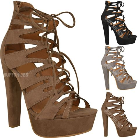 ankle gladiator sandals new womens high heel platform gladiator sandals