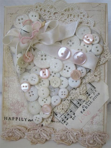 button heart shabby chic pinterest crafting