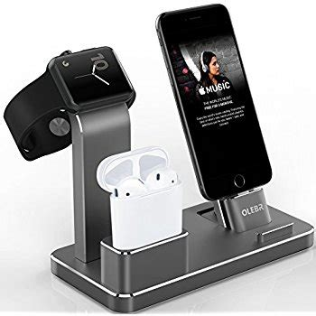 Apple Charging Dock Stand Iwatch bestand 3 in 1 aluminum apple iwatch stand