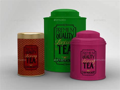 Tea Tin 1 luxury tea tin cans packaging mock ups by ina717 graphicriver
