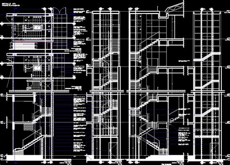 stair section dwg detail section metal stairs dwg section for autocad dwg