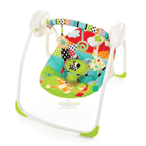 bright starts biscotti baby portable swing bright starts portable swing roaming safari baby needs