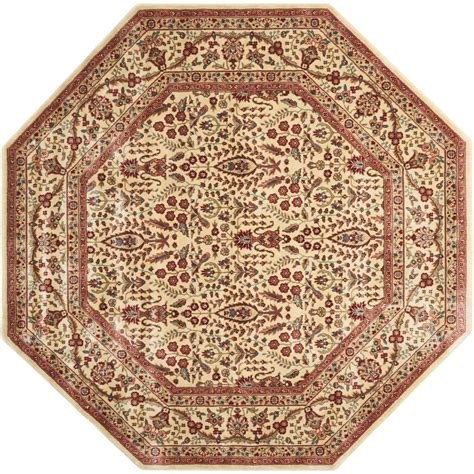octagonal area rugs nourison arts ivory 7 ft 9 in x 7 ft 9 in octagon area rug 170811 the home depot