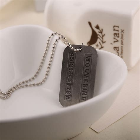 Wolverine X Logan Tag Army Necklace Kalung Tentara Xmen 1 the wolverine logan army chain tag necklace