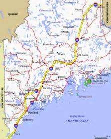 Map Of The State Of Maine by Maine Map