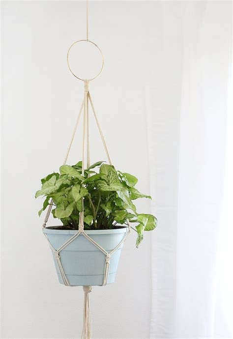 Make Plant Hanger - simple diy macrame plant hanger lou