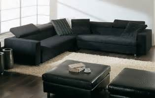beautiful leather black sofa for living room plushemisphere