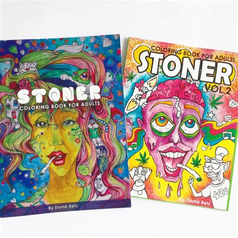 16 and with volume 1 books stoner coloring books for adults volume 1 and volume 2 combo