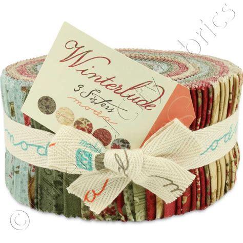 Quilt Fabric Jelly Rolls by Moda 3 Winterlude Jelly Roll Emerald City Fabrics