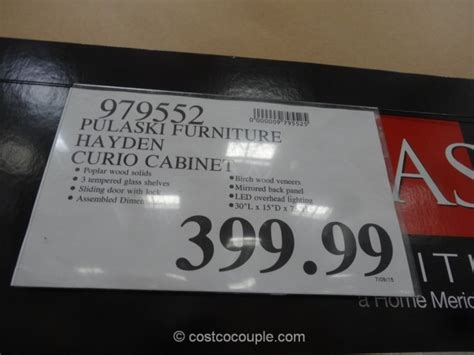 pulaski curio costco pulaski furniture hayden curio