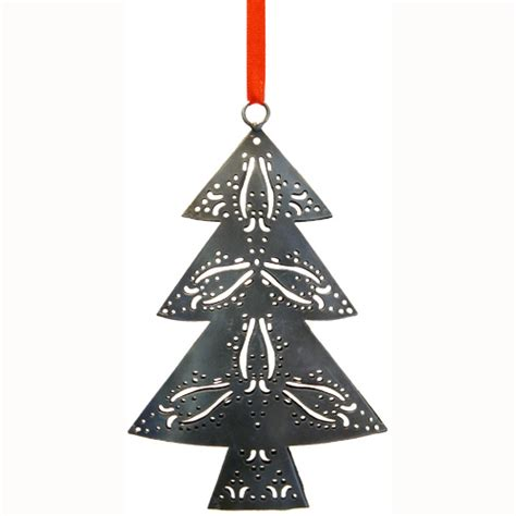 metal ornaments recycled metal trees from india fair trade