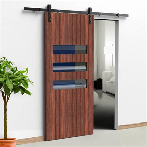 Interior Sliding Doors Hardware 5ft Sliding Barn Door Hardware Black Rustic Barn Door Wardrobe Sliding Barn Door Hardware