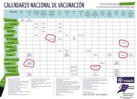 calendario de vacunacion de ministerio de salud 2016 impacto corrientes com recomiendan completar el carnet