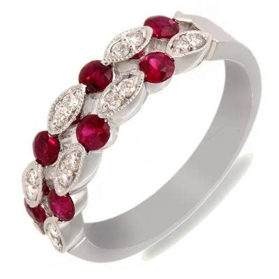 and ruby wedding rings the wedding specialists