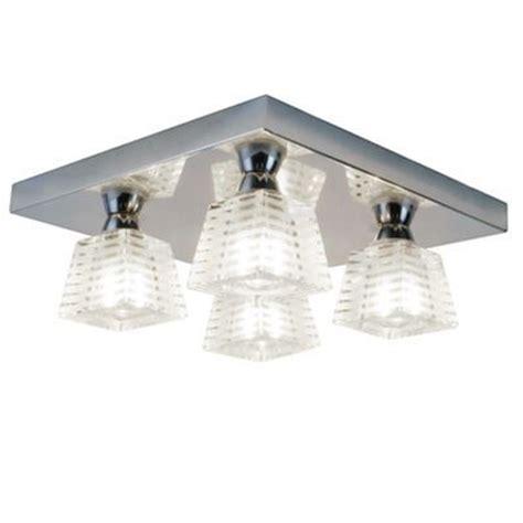 litecraft pyxis k9 glass 4 light bathroom ceiling light