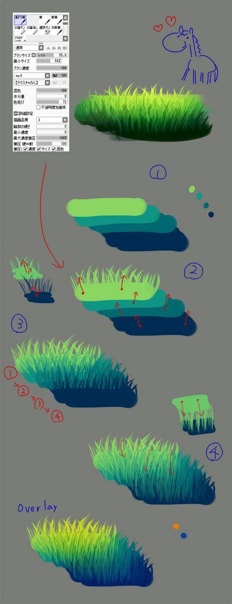 Sai Grass Tutorial By Ggrw34 On Deviantart